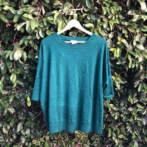 Turquoise Anthropologie Sweater sz M